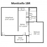 Monticello Designer 1 Bedroom