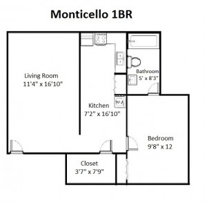 One Bedroom Standard Style (#12)