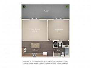 One Bedroom Designer Series with Garage (#50)
