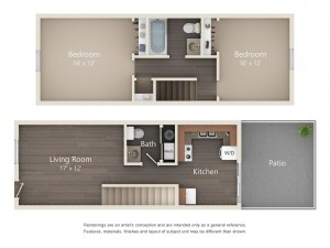 Two Bedroom Premium Style Townhome (#16)