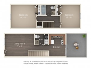 Two Bedroom Standard Style (#10)