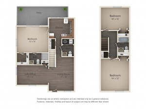 Three Bedroom Designer Series Town Home (#15)