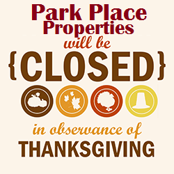 2016 Thanksgiving Holiday Hours