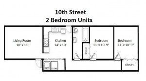 Two Bedroom Deluxe Style – Second Floor (#03)