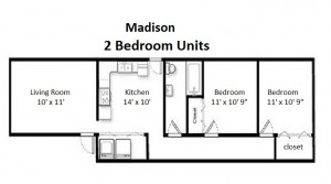 Two Bedroom Deluxe Style – Second Floor (#04)