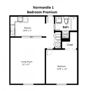 One Bedroom Premium Style – 2nd Floor (#15)