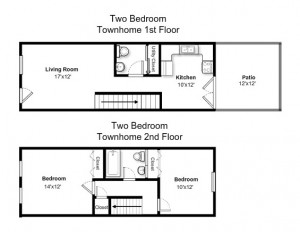 Two Bedroom Standard Style Townhome (#11)