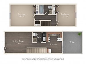 Two Bedroom Designer Series Town Home (#04)