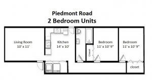 Two Bedroom Standard Style – First Floor (#01)